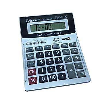 8 dígitos inglés calculadora de Habla con Alarma, Mostrar ...