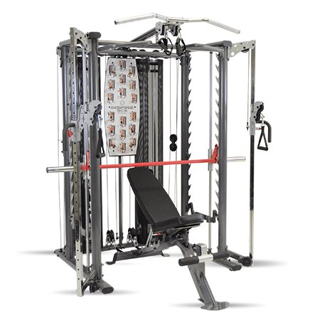 Inspire Fitness Scs Smith System/Cage System/Functional Trainer (All in One Gym) (Inspire SCS System (With Bench))