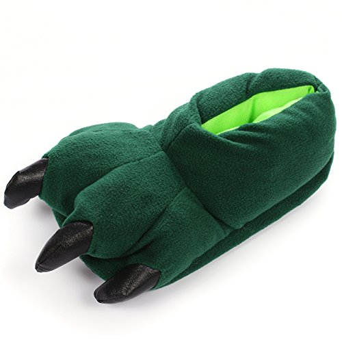 MALI HOME Unisex Soft Plush Animal Paw Home Slippers