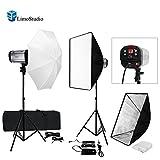 LimoStudio 600W Flash Strobe Light Photo Studio Monolight Speedlite Lighting Kit, Whtie Diffuser Umbrella Softbox Light Stand, AGG1776