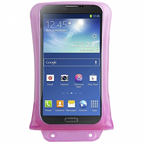 """DiCAPac WP-C2 Wasserdichte Smartphone Hülle für große Smartphones 4,5"""" / 11,4cm bis 5.5"""" 14 cm in pink"""