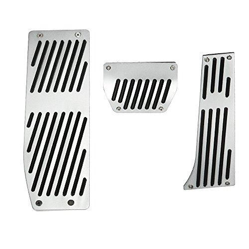 (KKmoon AT Foot Rest Pedals Set for BMW E30 E36 E46 E87 E90 E91 E92 E93 M3 Left Driving Country)