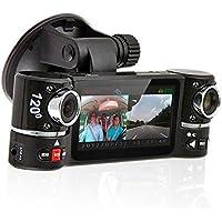 inDigi Dash Cam 2.7 TFT LCD Dual Camera Rotated Lens Car DVR w/ IR Night Vision - NEW