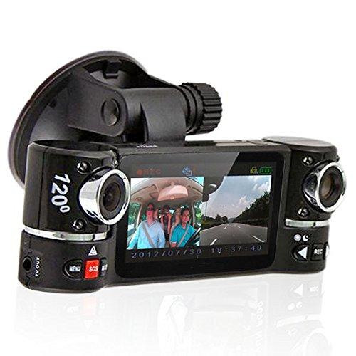 Cheap inDigi Dash Cam 2.7″ TFT LCD Dual Camera Rotated Lens Car DVR w/ IR Night Vision – NEW