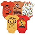 Disney Lion King Baby Boys 5 Pack Bodysuits Simba Timon Pumbaa 0 3 Months