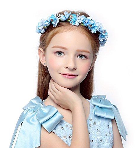 DDazzling Flower Headband Crown for Girls and Women