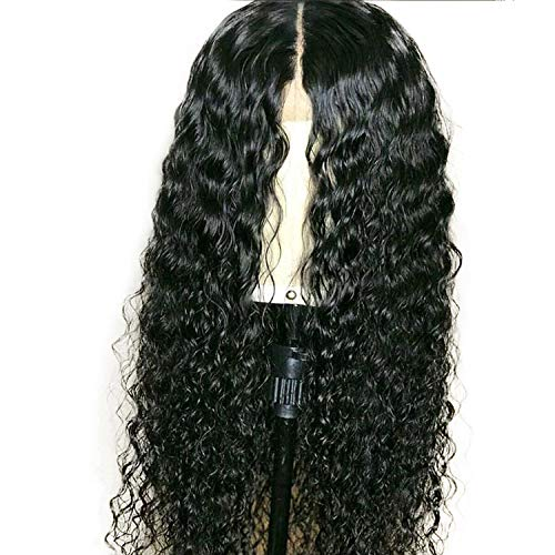 13X6 Lace Front Human Hair Curly Wigs 130% Density Brazilian Hair Lace Wig Pre Plucked Hairline,#2,22inches