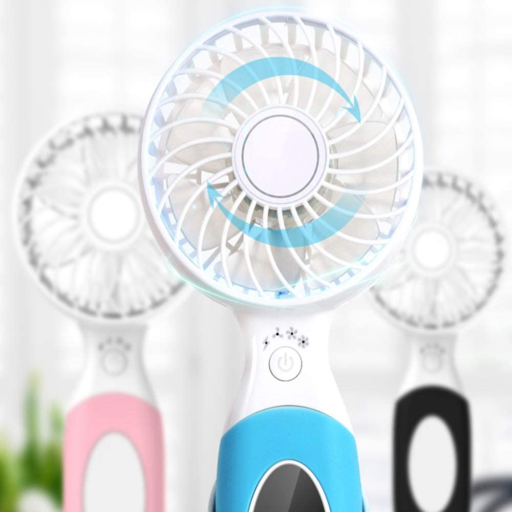 Color : A BLWX Handheld Small Electric Fan Rechargeable USB Small Mini Student Dormitory Bed with Portable Portable Desktop Handheld Fan