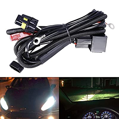 HID Relay Wiring Harness Xenon HID Conversion Kit Universal Single Beam Wire Harness for H1 H3 H4 H7 H8 H9 H10 H11 H13 9004 9005 9006 9007 9140 9145 5202 880 884: Automotive