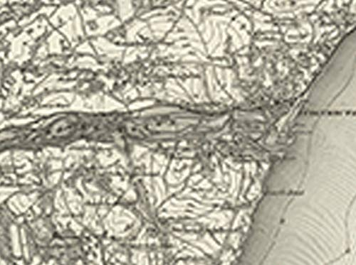 Exeter - Ordnance Survey of England and Wales 1890 Series 100cm x 74cm Teignmouth