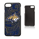 Keyscaper NCAA Montana State Bobcats MSU Paisley Slim Case, iPhone 8/7/6, Black