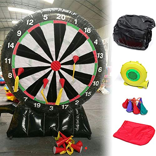 Set Dartboard Giants - ZUINIUBI 9.85FT Giant Inflatable Dart Board with Electric Air Blower Durable Outdoor Backyard Game for Kids Adults 110V Set Up in 2 Minutes Deflated in 3 Minutes