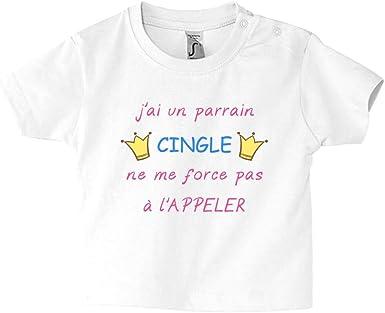 JAi Un Parrain Cingl/é T-Shirt B/éb/é