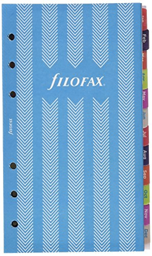 Filofax 2019 Personal Compact Refill, Week to View, Illustrated Stripes, 5 Languages, 6.75 x 3.75 inches (C6343-19)