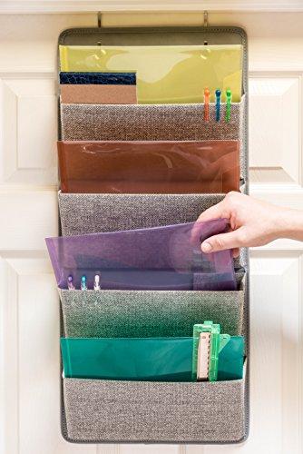 Elegant Wonders 4 Pocket Fabric Wall Organizer For House