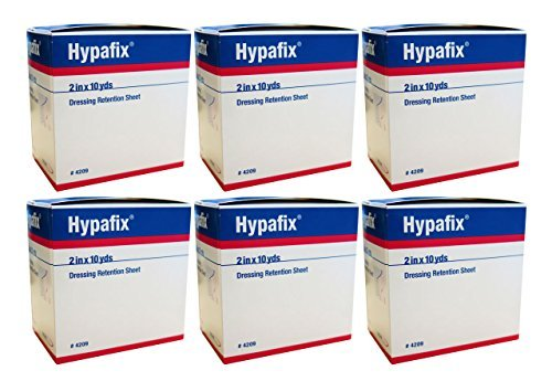 Hypafix Dressing Retention Tape: 2 X 10 Yds Each 6 - Boxes by Hypafix