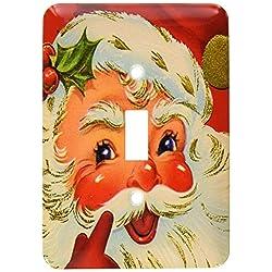 3dRose LLC lsp_60803_1 Jolly Smiling Santa Single Toggle Switch