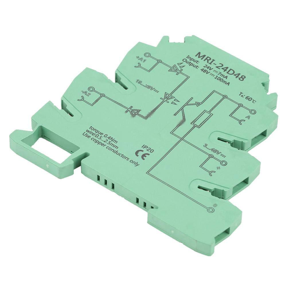 Akozon Modulo Rel/è isolamento PLC Accoppiatore Ottico Rele MRI-24D48 Modulo Rel/è Isolante Protezione Ultrasottile Optoaccoppiatore Controllo Ingresso 24VDC Uscita 3-48VDC