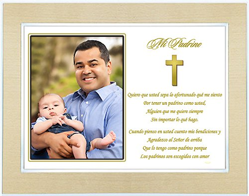 Godfather Gift from Godchild - Poem in Spanish - Framed Poetry Gift ...