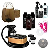 Allure Spray Tan Machine with Sjolie Tanning Solution and Bronze Pop Up Tent