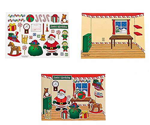2 Dozen (24) Awesome Build-A-Santa's Workshop Sticker Scenes/Christmas / Winter/Holiday Party Game Fun / ()