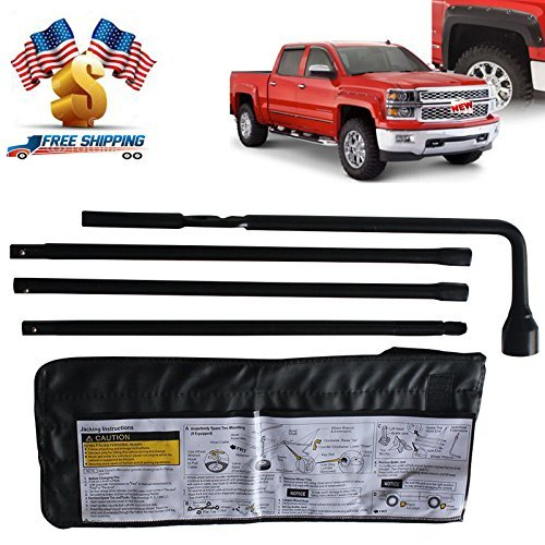 Spare Tire Lug Wrench (New Spare Tire Repair Kit Lug Wrench with Bag Tire Conversion Tool For Chevrolet Chevy Silverado GMC Sierra 2000-2014 - 22969377 20782708 - 2 Year Warranty)