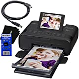 Canon SELPHY CP1300 Wireless Compact Photo Printer (Black) + USB Printer Cable + HeroFiber Ultra Gentle Cleaning Cloth