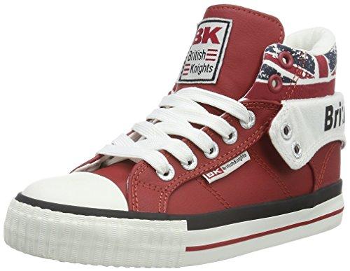 Chevaliers Britanniques Roco Enfants Unisexe Rouge Haute Sneaker (prise / Union 02)
