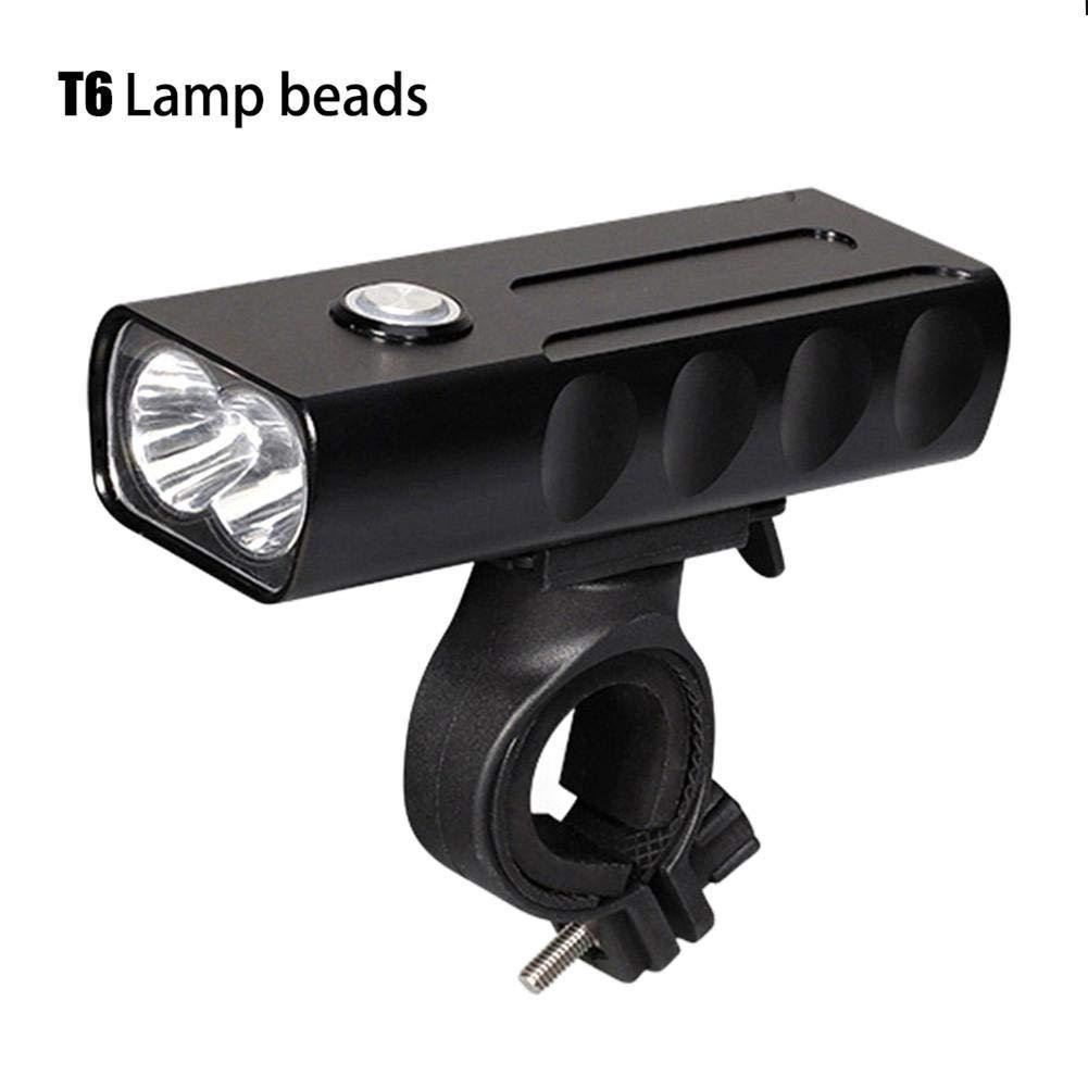 gaeruite bici luci USB ricaricabile, set bicicletta luce anteriore a LED ultra luminoso 1000Lumen alluminio con rotazione a 360gradi per strada e mountain bikes, T6 Lamp Beads, AS SHOW