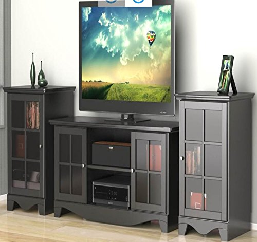 Nexera Pinnacle 3 Piece 54 Entertainment Set in Black and Cinnamon Cherry