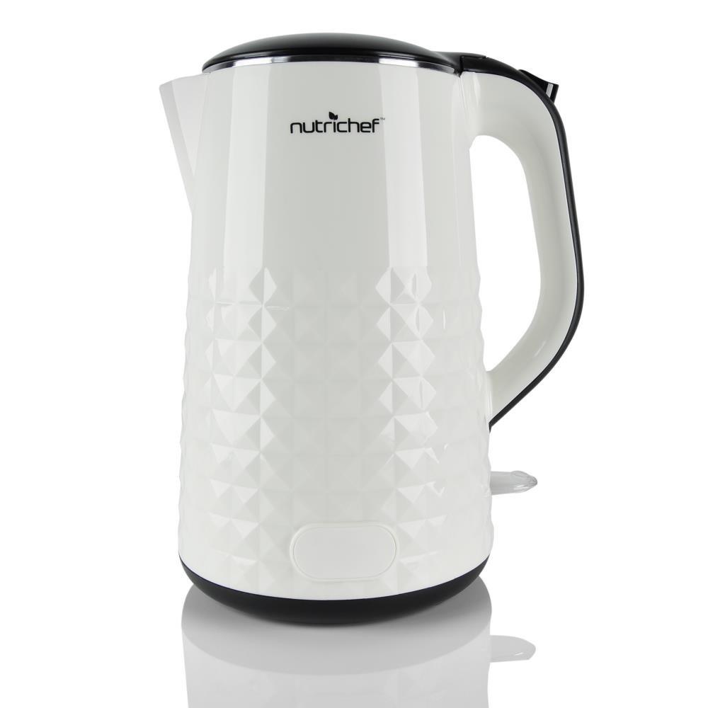 NutriChef AZPKWK10WT Electric Kettle, 9.6 x 8.4 x 6.5 inches, White