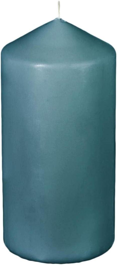 Lot de 10 Bougies b/âtons Coloris Bleu Canard H16 Atmosphera