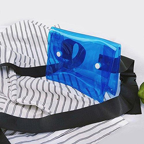 Clear Shoulder PVC Bag Flap Girl Women Phone Small Domybest Summer Handbag Blue Messenger FtwvxTEq