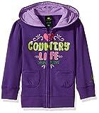 John Deere Baby Girls' Fleece Zip Front Hoody, Purple, 3T