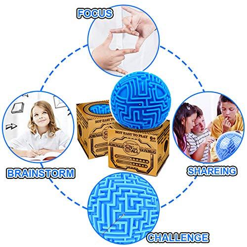 3D Cube Labyrinth Magic Rolling Ball Puzzle Brain Teaser Games Sphere Maze HM