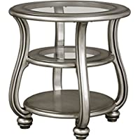 Ashley Coralayne Round End Table in Silver