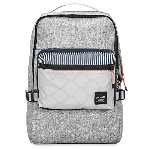 Pacsafe Slingsafe LX350 Anti-Theft Compact Backpack with Detachable Pouch, Tweed Grey