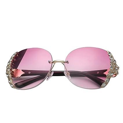AOLVO Gafas de Sol de Diamante, Gafas de Sol Retro de ...