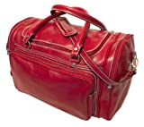 Floto Luggage Italian Torino Duffle Suitcase, Tuscan Red, Large