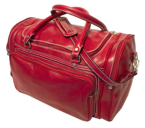 Floto Luggage Italian Torino Duffle Suitcase, Tuscan Red, Large by Floto