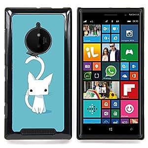 Jordan Colourful Shop - Cute Japanese Kitten Cat Blue Raven For Nokia Lumia 830 - < Personalizado negro cubierta de la caja de pl??stico > -