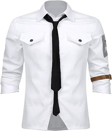TiaoBug Disfraz de Matador Cosplay Costume para Halloween Carnaval Juego Adultos Camiseta Blanca Verano Hombre Accesorio con Corbata Blanco X-Large: Amazon.es: Ropa y accesorios