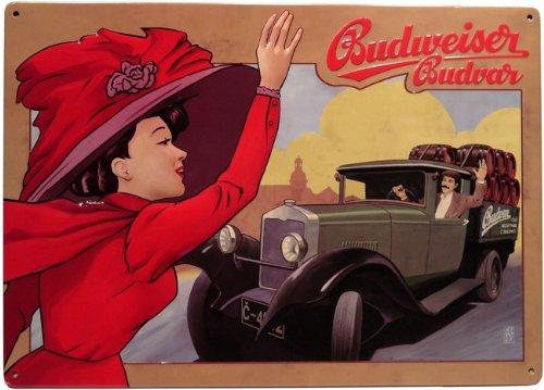 Budweiser Cerveza Cartel de 29,5 x 21 cm Diseño Retro 412 ...