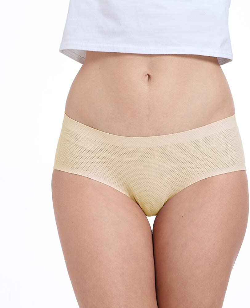 FallSweet Women No Show Underwear Soft Seamless Briefs No Panty Lines Multi-Pack