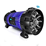Pyle Street Blaster FX BoomBox | Portable Stereo Radio Speaker System [with App Control LED Party Lights] Bluetooth + NFC | Built-in Rechargeable Battery (PBMSPG260L)