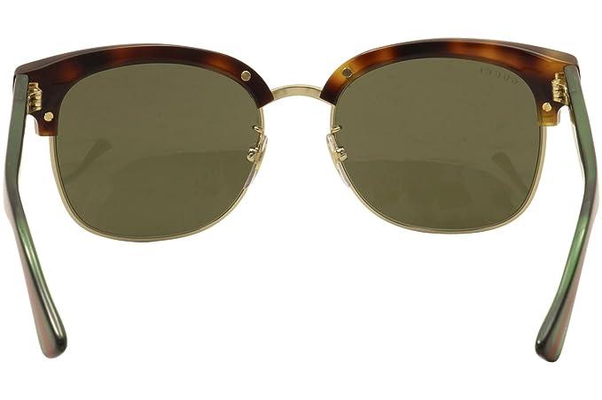 Gucci Herren Sonnenbrille GG0056S 003, Braun (Avana/Brown), 54