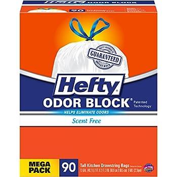 Amazon Com Hefty Odor Block Tall Kitchen Trash Bags 90