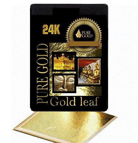 20 BIGGER SHEETS 8CM X 8.5CM 24CT GOLD LEAF ON BASE PURE GOLD