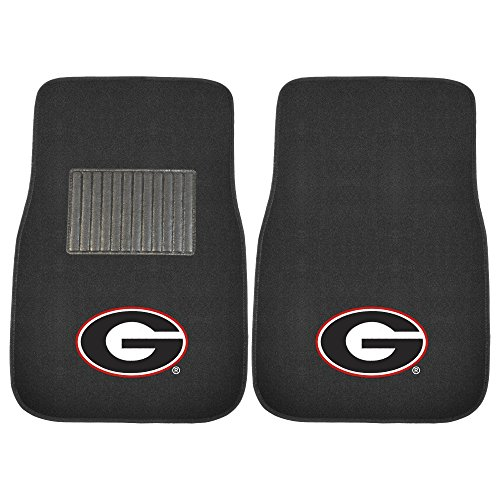 picture of FANMATS 10347 Georgia 2-Piece Embroidered Car Mat
