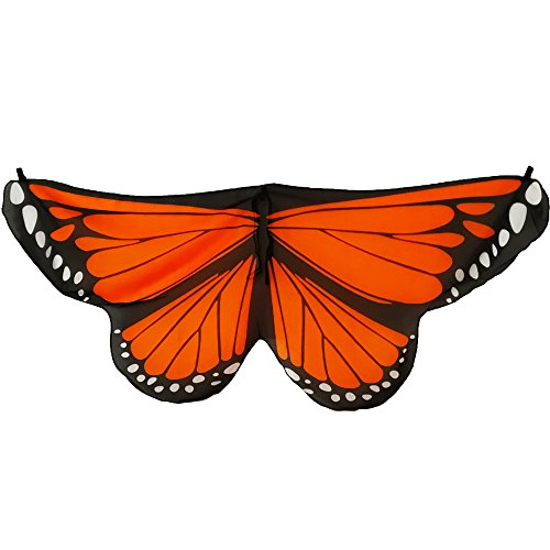 Etmact Orange Butterfly Wings Monarch Wings for Children Dressing Up Costumes -